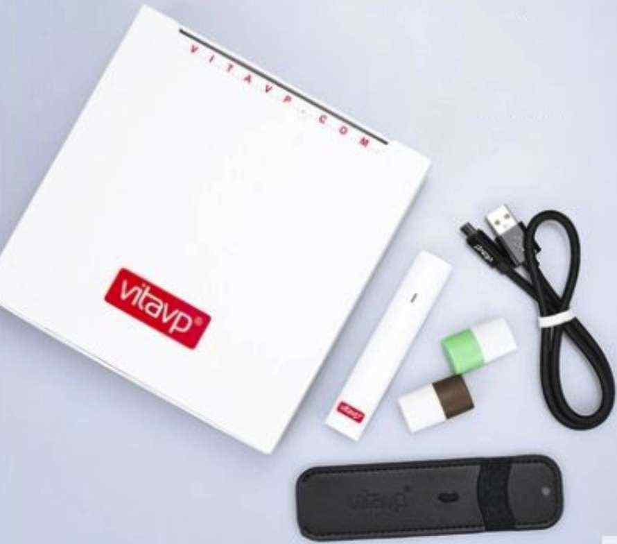 【vitavp唯它】有如真煙的口感  蒸氣式充電電子煙 - 天使白套裝(送2顆菸彈+皮套)