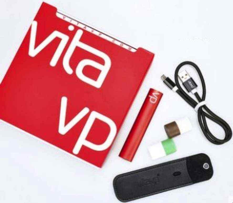 【vitavp唯它】有如真煙的口感  蒸氣式充電電子煙 - 烈焰紅套裝(送2顆菸彈+皮套)