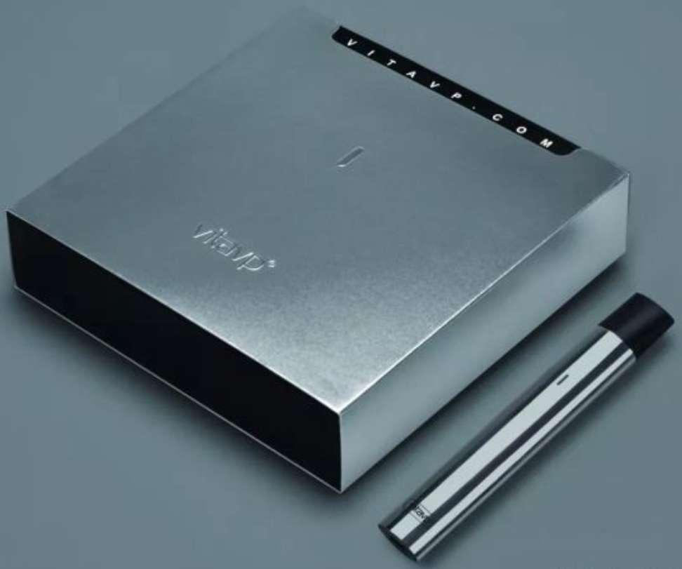 【vitavp唯它】有如真煙的口感 蒸氣式充電電子煙 - 迷幻鏡面銀(送2顆菸彈+皮套)
